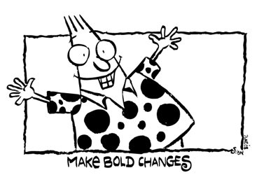 Yeah bold changes. But where can I get that shirt?