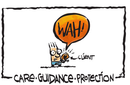 care_guidance_protection, marketing strategy, dealing with clients