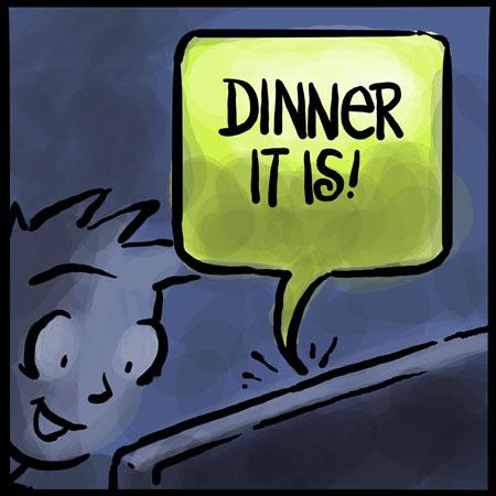 cartoons, dinner, わさび, facebook, Sean D'Souza