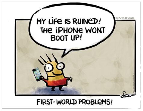 clueless cartoon, iPhone dead, Sean D'Souza, Psychotactics