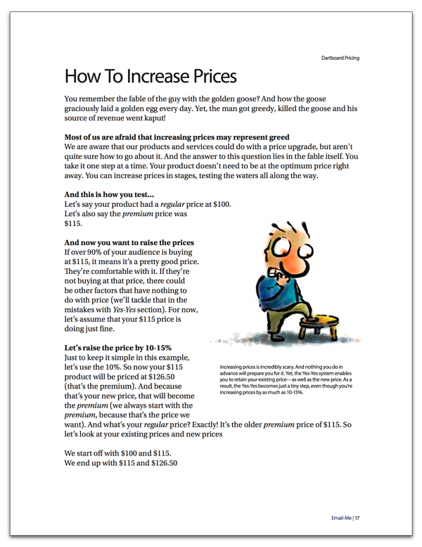 How to increase prices systematically
