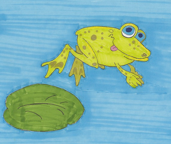 cartooning course frog illustration