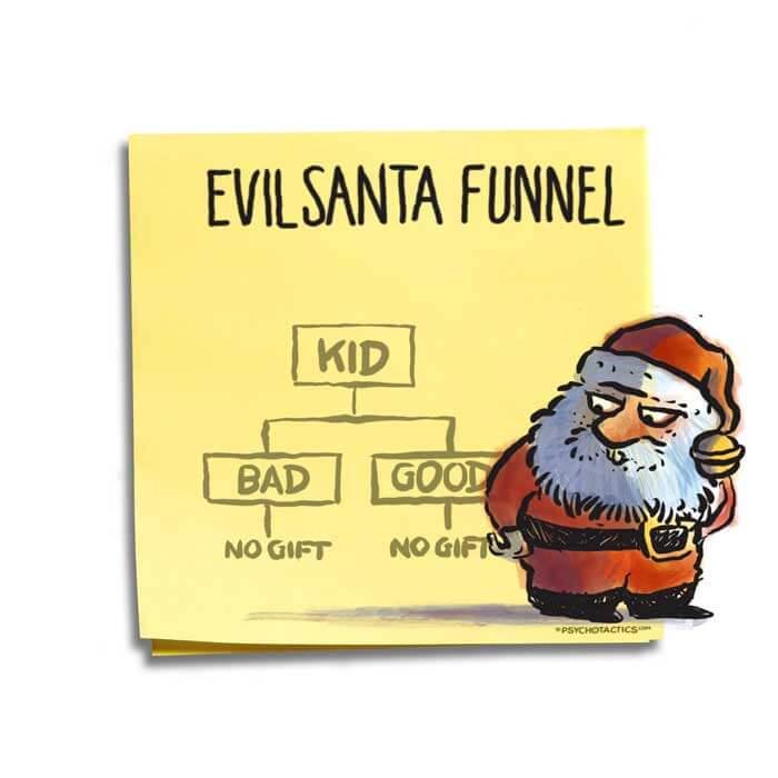 Friday Cartoon: Evil Santa Funnel: Square Toon: Psychotactics