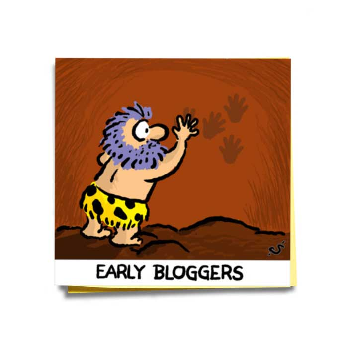 Friday Cartoon: Early Bloggers: Square Toon: Psychotactics