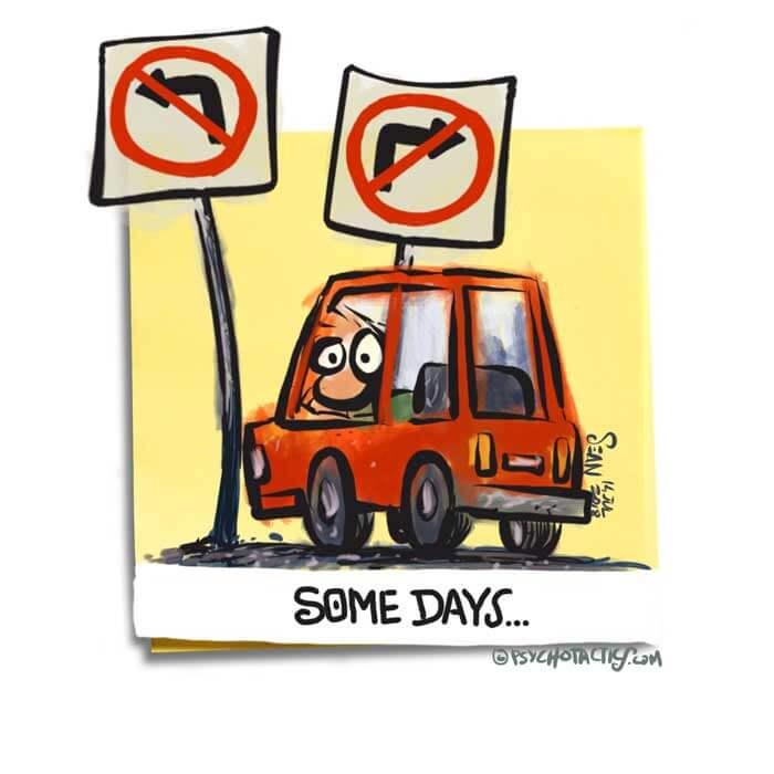 Friday Cartoon: Some Days: Square Toon: Psychotactics