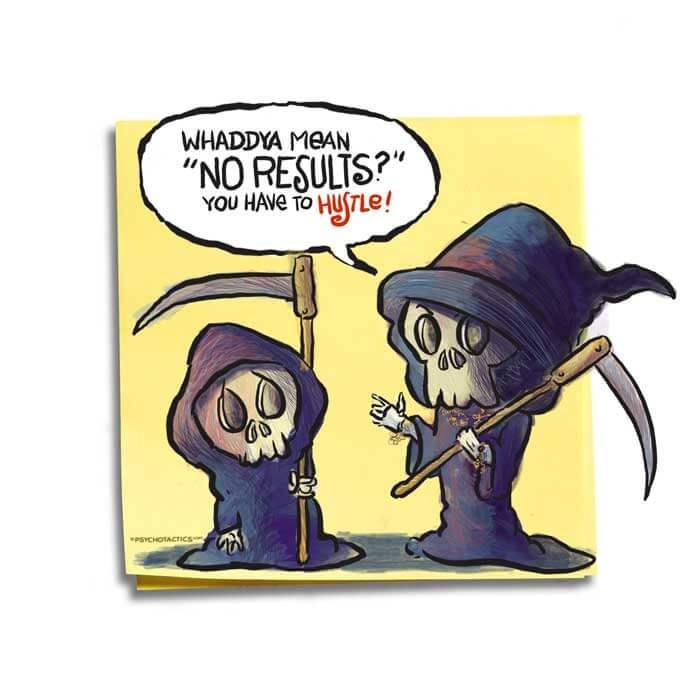 Friday Cartoon: No Results: Square Toon: Psychotactics