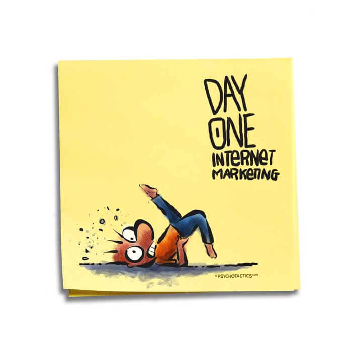 Friday Cartoon: Day One Internet Marketing: Square Toon: Psychotactics