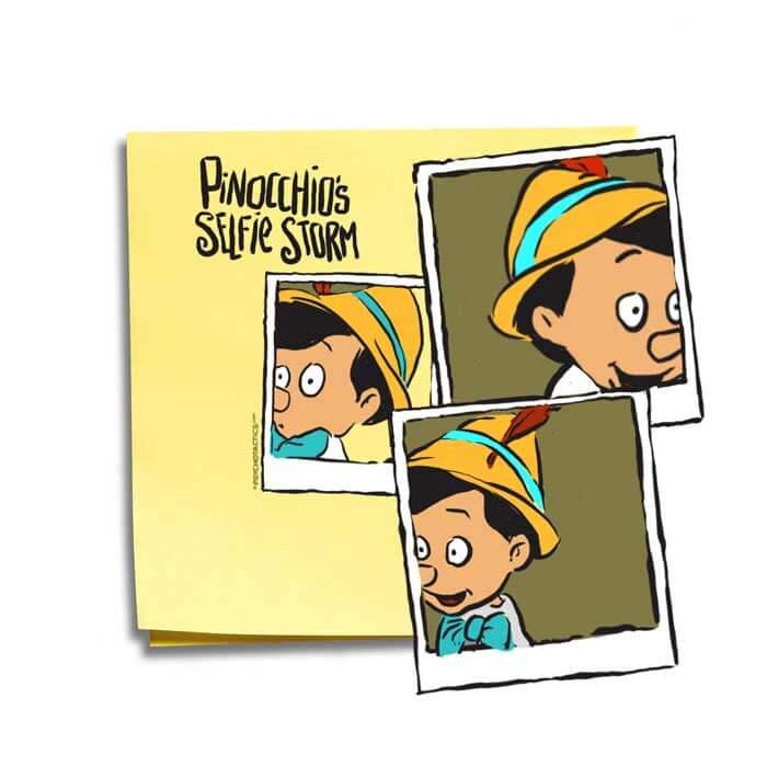 Friday Cartoon: Selfie Storm: Square Toon: Psychotactics